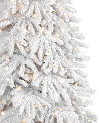 Flocked Christmas Trees Decorated by Frozen Fir Flocked Artificial Christmas Tree Treetopia