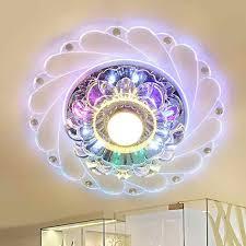 moderne led kristall decke licht rund mini bunte decke le