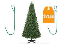 6 Ft Alberta Spruce Artificial Christmas Tree Unlit 200 Hooks
