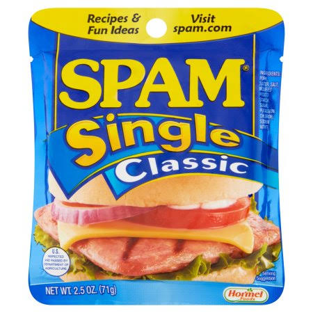 Hormel Foods Spam Single Classic Lunch Meat - 2.5oz