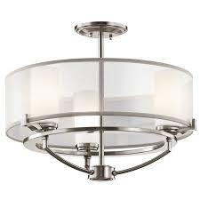 chandelier small flush mount light to ceiling lights semi