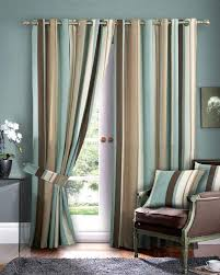 beautiful blue and brown curtains curtain pinterest striped