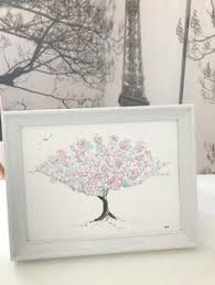 Cherry Blossom Watercolour Green And Pale Pink Tree Painting By GlasgowGallerina On Etsy