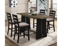 Oakley 5-Piece Solid Wood Counter Height Table Set