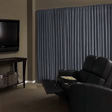 Sound Reduction Curtains Uk by Absolute Zero Velvet Blackout Home Theater Curtain Panel 95 Inch