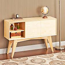 mid century modern credenza woodworking plan from wood magazine