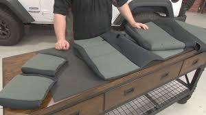 Jeep Wrangler JK Rugged Ridge Rear Seat Cover Neoprene Black With ...