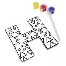 Suncatcher Letter H Hobbycraft