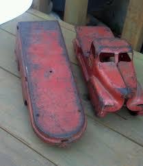 100 Vintage Truck Parts VINTAGE PRESSED STEEL UNITED VAN LINES MOVING TRUCK PARTS TOY