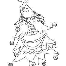 Christmas Trees Wink Funny Tree Lights Coloring Page