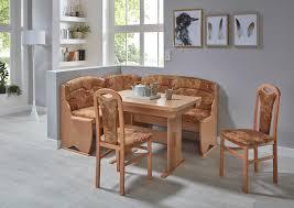 eckbankgruppe trude wangentisch 2x stühle truheneckbank buche natur dekor var aufbaubar