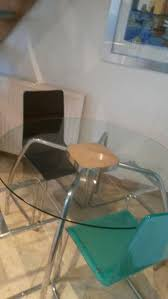 Glass Table & 4 Acrylic Chairs In PR4 Lancashire For £85.00 ... Elegant Acrylic Tables Designer Table For Home Modern Farmhouse Rue Mag Ding Room Clear Glamorize Your With An Pedestal Ding My New Old Chair Artist Fixes Broken Wood Fniture With Modway Casper Stacking Kitchen And Room Arm In Fully Assembled Martinus High Gloss White Set Fniture Lucite Table 8 Pyramid Side List Of Types Wikipedia Design Sets And Chairs Ikea Design Transparent Chair Acrylic Polycarbonate Pc Imax Worldwide Seating Arturo