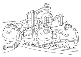Action Chugger and Brewster and Chatsworth of Chuggington Coloring