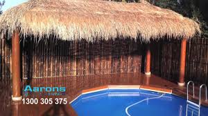 Aarons Bali Huts - How To Transform Your Backyard - YouTube Tiki Hut Builder Welcome To Palm Huts Florida Outdoor Bench Kits Ideas Playhouse Costco And Forts Pdf Best Exterior Tiki Hut Cstruction Commercial For Creating 25 Bbq Ideas On Pinterest Gazebo Area Garden Backyards Impressive Backyard Patio Quality Bali Sale Aarons Living Custom Built Bars Nationwide Delivery Luxury Kitchen Taste Build A Natural Bar In Your For Enjoyment Spherd Residential Rethatch