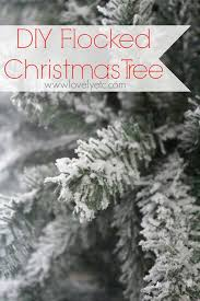 Flocked Artificial Christmas Trees Sale by Diy Flocked Christmas Tree Lovely Etc