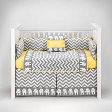 amazon com elephant chevron zig zag gray yellow baby bedding
