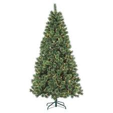 7ft Pre Lit Artificial Christmas Tree Deluxe Cashmere