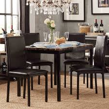 Darcy Faux Marble Top Black Metal 5-piece Casual Dining Set By INSPIRE Q  Bold Coaster Fniture Los Feliz Ding Table Max Casual Counter Height Set By Elements Intertional At Household Home Furnishings 7pc Chairs Contemporary Style Cappuccino Finish Casual Ding Room Table Settings Good Room Sets Create An Viting Space In A Kitchen Or Target Marketing Systems Helena 5 Piece Overhead View Of Restaurant With Wooden And Bradshaw Round Pub Ladderback Chair Liberty Appliancemart Alyssa Portland City Liquidators The Alzare Raising Coffee