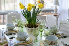 Daffodil Centerpiece For A Springtime Table Setting