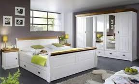 details zu massivholz schlafzimmer set komplett 2farbig weiß honig kiefer massiv landhaus