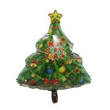 Pausseo 3 Pack Christmas Tree Foil Aluminum Balloons Set