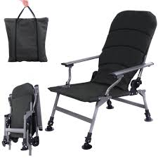 Folding Fishing Chair Portable W/Carry Bag Outdoor Camping ...