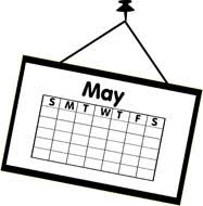 May Calendar Clipart Black And White ClipartXtras