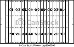 American football field isolated on white clip art vector Search