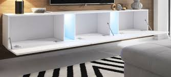 tv lowboard grau hochglanz lack weiß hängend stehend board slant mit led