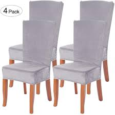 Didihou Velvet Stretch Dining Chair Slipcovers Stretch Soft Velvet Dining  Room Chair Covers Chair Protector Removable Washable Dining Chair Slipcover  ... Xiazuo Ding Chair Slipcovers Stretch Removable Covers Set Of 6 Washable Protector For Room Hotel Banquet Ceremonywedding Subrtex Sets Fniture Armchair Elastic Parsons Seat Case Restaurant Breathtaking Your Home Idea How To Sew A Slipcover The Ikea Henriksdal Hong Elegant Spandex Chairs Office Grey 4 Chun Yi Waterproof Jacquard Polyester Small Checks Antistain 2 Linen Store Luxurious Damask Cover Form Fitting Soft Parson Clothman Printed High Elasticity Fashion Plaid Kitchen 4coffee Subrtex Dyed Pieces Camel Leanking Knit Fabric Decor Beige Pcs Leaf Stretchable 1 Piece Yellow