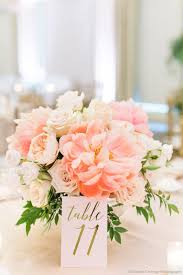 Coral Color Decorations For Wedding by Best 25 Peach Wedding Centerpieces Ideas On Pinterest Peach