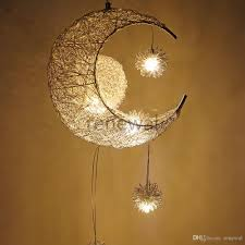 großhandel moderne anhänger deckenleuchten mond sterne kronleuchter kinder schlafzimmer hängele weihnachtsschmuck für hause leuchte beleuchtung