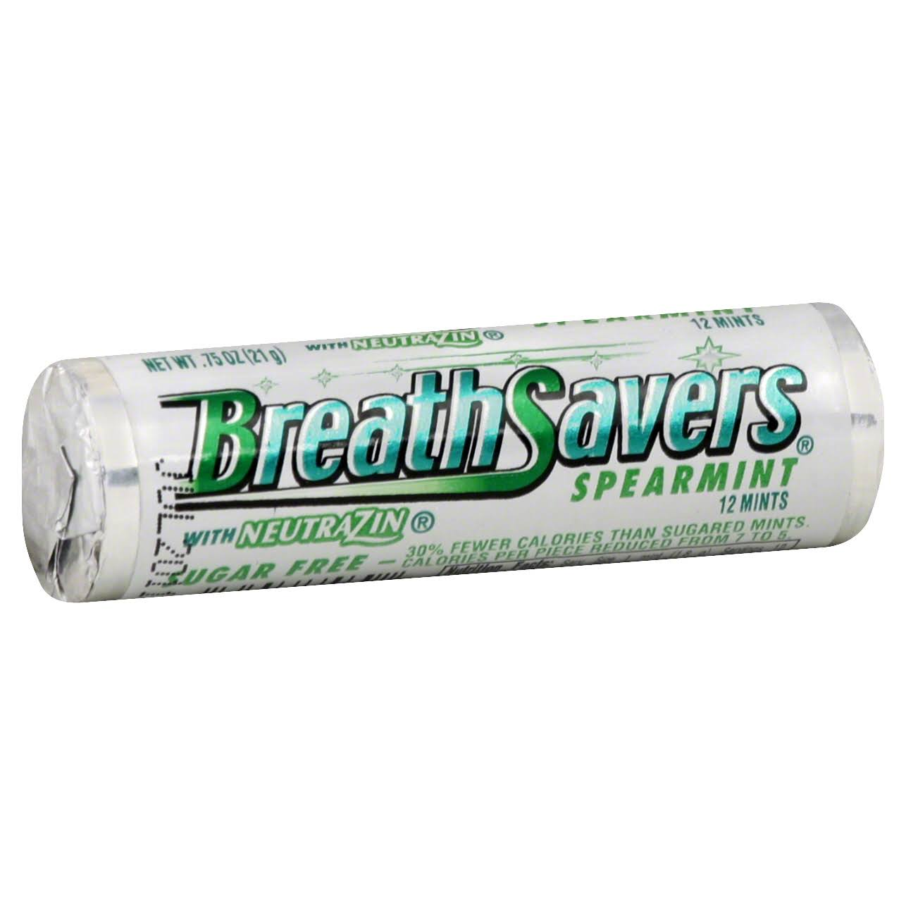 Breath Savers Mints - Spearmint, 0.75oz Rolls, Pack of 24