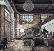 104 Interior Design Loft Artstation Rust Gokhan Can Kilic