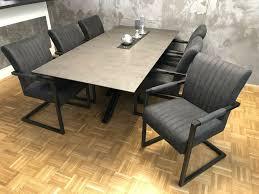 6 stühle industrial grau modern neu esszinmmerstühle
