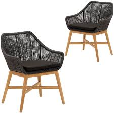 Black Stream PE Wicker Outdoor Dining Chairs (Set Of 2) Lotta Ding Chair Black Set Of 2 Source Contract Chloe Alinum Wicker Lilo Chairblack Rattan Chairs Uk Design Ideas Nairobi Woven Side Or Natural Flight Stream Pe Outdoor Modern Hampton Bay Mix And Match Brown Stackable
