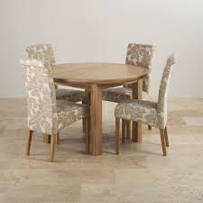 Knightsbridge Oak Dining Set Round Extending Table 4 Chairs Inside Room And