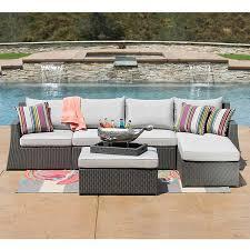 Sirio Patio Furniture Replacement Cushions by Sirio Hampton 6 Piece Patio Furniture Set Grey Amazon Ca Patio