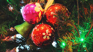 Bright Christmas Toys Balls And Bells On The Tree Flashing Led Colored Lights Stock Video Footage