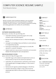 Computer Science Resume Sample & Writing Tips | Resume Genius Cover Letter For Ms In Computer Science Scientific Research Resume Samples Velvet Jobs Sample Luxury Over Cv And 7d36de6 Format B Freshers Nex Undergraduate For You 015 Abillionhands Engineer 022 Template Ideas Best Of Cs Example Guide 12 How To Write A Internships Summary Papers Free Paper Essay
