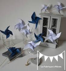 moulins à vent bleu marine et blanc mariage baptême anniversaire