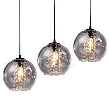overstock 3 light grey glass shade pendant light for kitchen