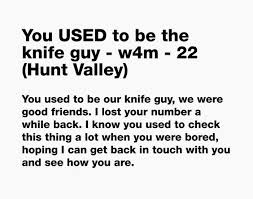 You USED to be the knife guy w4m 22 Hunt Valley by Nancy Daly Digital Collage 14x11 Inches State of the art digital printing on heavyweigh…