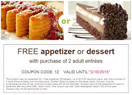FREE Appetizer Dessert At Olive Garden With Two Adult Entrees