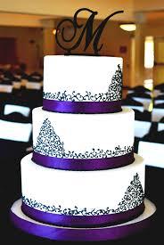 Elegant Purple Black Cake