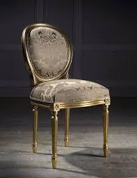 chaise de style chaise médaillon de style louis xvi en tissu andrea i colección