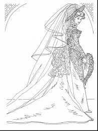 Terrific Beautiful Barbie Coloring Pages With Wedding