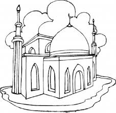 Mosque Coloring Pages Of Eid And Ramadan