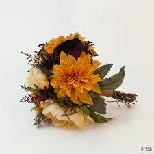Fall Wedding Bouquet Silk And Dry Flower Bridal Boquet Bride