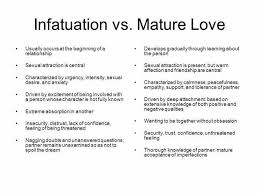 Infatuation Vs Mature Love